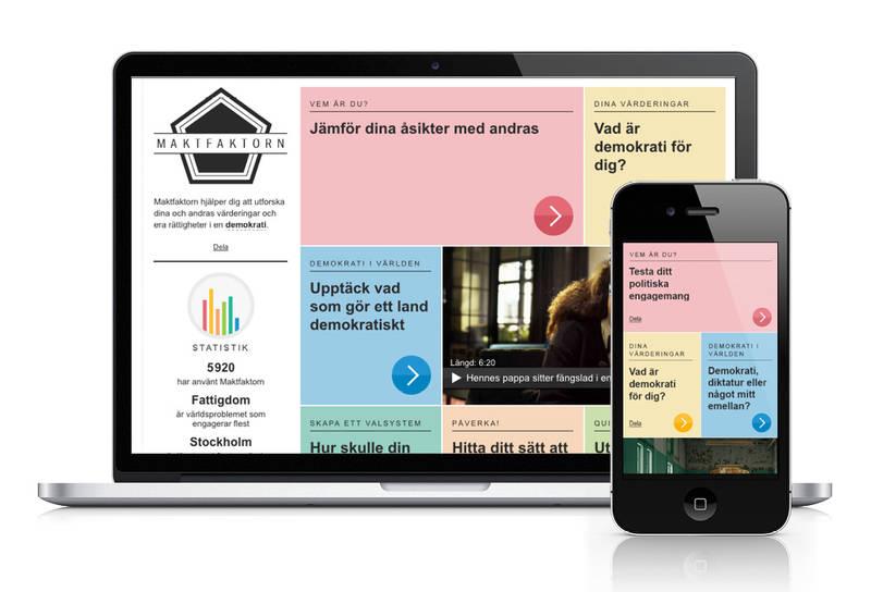 En lekfull utbildande responsiv webbplats för demokrati